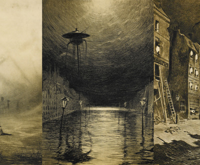 Illustrations from a 1906 French translation of H.G. Wells' The War of the Worlds by Henrique Alvim Corrêa.