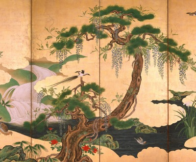 Birds and Flowers of Spring and Summer, by Kano Eino, late seventeenth century.