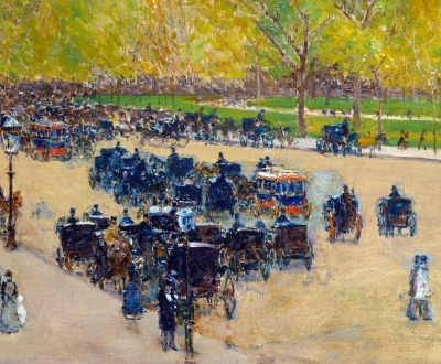 Spring Morning in the Heart of the City, by Childe Hassam, 1890. The Metropolitan Museum of Art. Gift of Ethelyn McKinney, in memory of her brother, Glenn Ford McKinney, 1943.