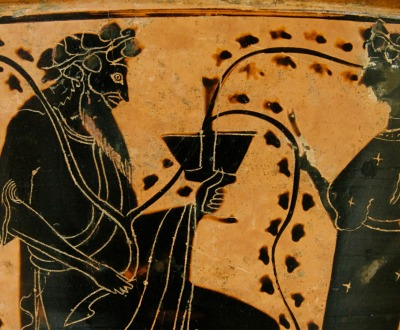 Dionysos and his Thiasus, from the circle of the Antimenes Painter.