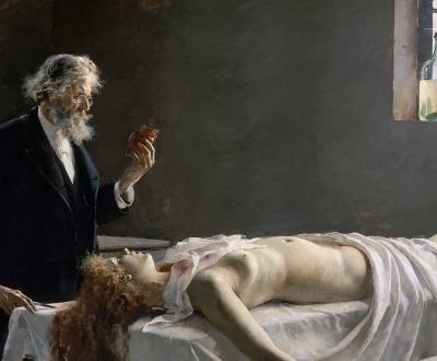 Anatomy of the heart; And she had a heart!; Autopsy, by Enrique Simonet, 1890.
