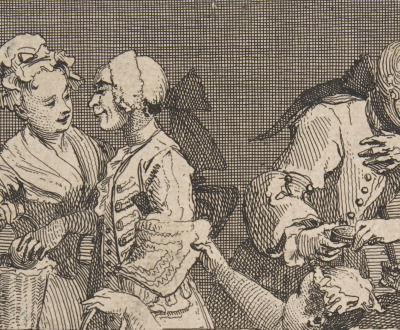 The Laughing Audience (detail), by William Hogarth, 1733. The Metropolitan Museum of Art, Harris Brisbane Dick Fund, 1932.