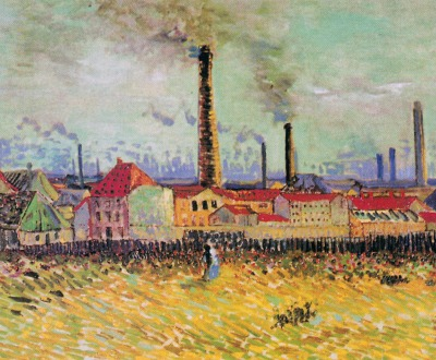 Factories at Asnieres, seen from the Quai de Clichy, by Vincent van Gogh, 1887.