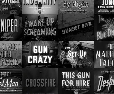 Film noir title screens.