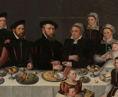 Antwerp merchant Pierre de Moucheron and his family, by an unknown artist, 1563. © Rijksmuseum.