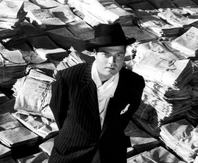 Portrait of Orson Welles for Citizen Kane, 1940.