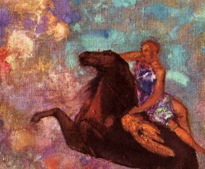 Muse on Pegasus, by Odilon Redon, c. 1900.