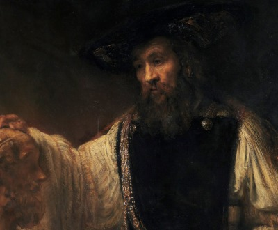 Aristotle with a Bust of Homer (detail), by Rembrandt van Rijn, 1653. © The Metropolitan Museum of Art, Purchase, special contributions and funds given or bequeathed by friends of the Museum, 1961.