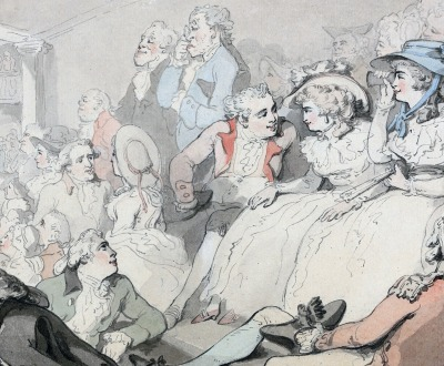 An Audience Watching a Play at Drury Lane Theatre