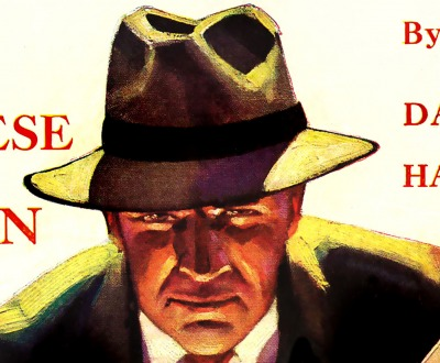 Depiction of Dashiell Hammett's character Sam Spade, cover of Black Mask magazine, September 1929.
