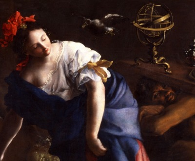 The Sorceress by Bartolomeo Guidobono.