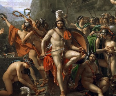 Leonidas at Thermopylae, by Jacques-Louis David, 1814.