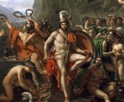 Leonidas at Thermopylae, by Jacques-Louis David, 1814.