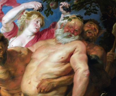 Drunken Silenus supported by Satyrs by Anthony van Dyck.