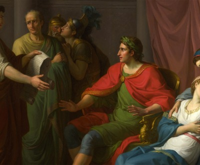 Virgil reading the Aeneid to Augustus and Octavia, by Jean-Joseph Taillasson, 1787.
