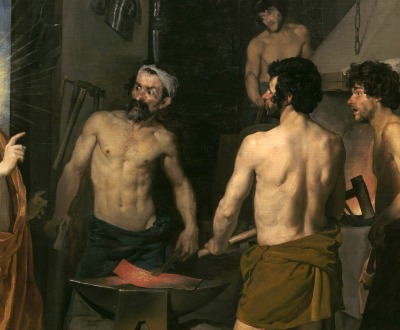 Apollo in the Forge of Vulcan, by Diego Velázquez, 1630. Museo del Prado, Madrid.