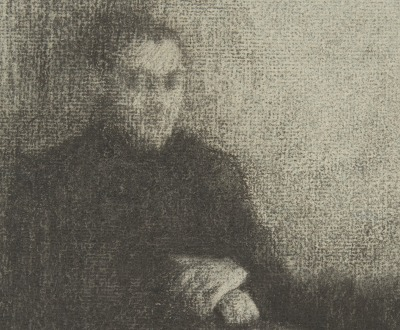 Seated Male Figure with Folded Hands (detail), by Édouard Vuillard, c. 1895. The Metropolitan Museum of Art, Purchase, Family of Howard Jay Barnet, in his memory, 1995.