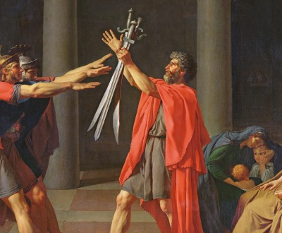 Jacques Louis David's painting The Oath of the Horatii