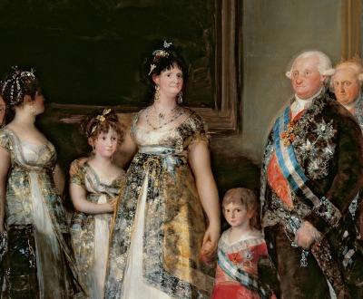 Charles IV and His Family, by Francisco José de Goya y Lucientes, 1800. Prado Museum, Madrid.