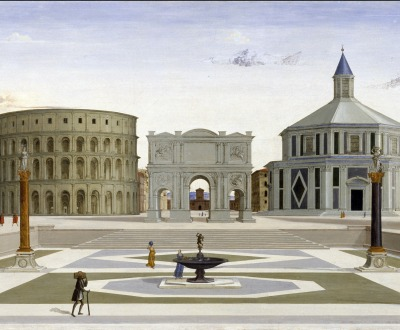 The Ideal City, attributed to Fra Carnevale, c. 1482. Walters Art Museum, Baltimore.