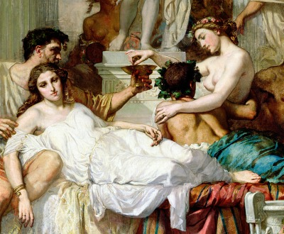 The Romans of the Decadence (detail), by Thomas Couture, 1847. Musée d'Orsay.