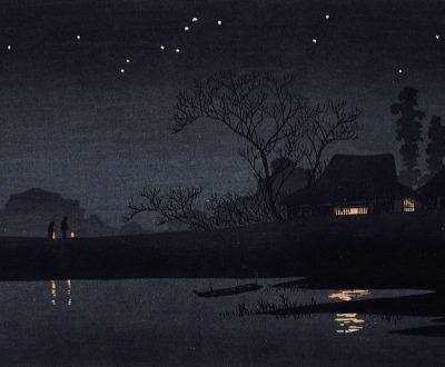 Starry Night, by Takahashi Shotei, c. 1926.