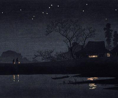 Starry Night, by Takahashi Shotei, c. 1926.