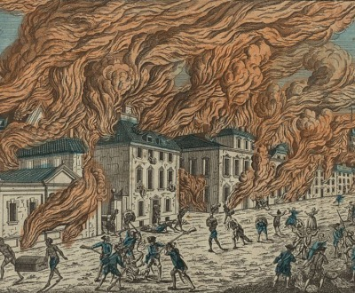 Representation du feu terrible a Nouvelle Yorck, c. 1778, Library of Congress, Prints and Photographs Division.