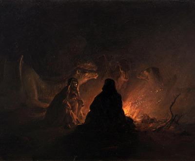 Bedouins in Camp at Night. Cooper Hewitt, Smithsonian Design Museum.