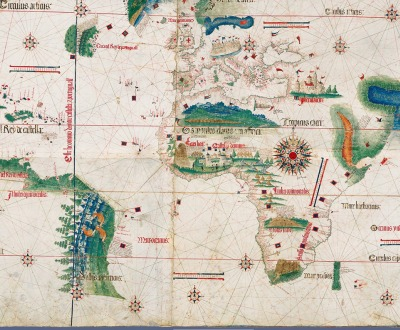 The Cantino planisphere, made by an anonymous cartographer in 1502, shows the world as it was understood by Europeans after their great explorations at the end of the fifteenth century.