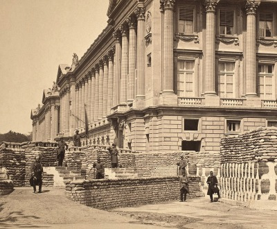 Barricades during the Paris Commune, near the Ministry of Marine and the Hotel Crillon, 1871. The Metropolitan Museum of Art, Elisha Whittelsey Collection, The Elisha Whittelsey Fund, 1959.