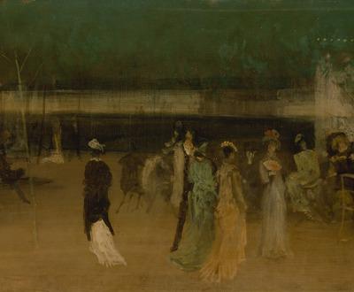"""""""Cremorne Gardens, No. 2,"""" by James McNeill Whistler, c. 1870. The Metropolitan Museum of Art, John Stewart Kennedy Fund, 1912."""