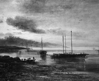 Night Scene on the Volga, Alexei Kondratievich Savrasov. The Met.