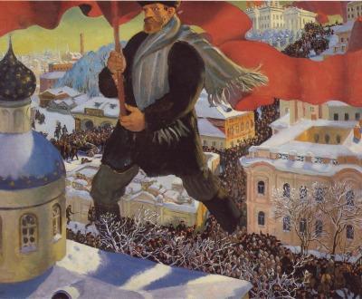 The Bolshevik, by Boris Kustodiev, 1920.