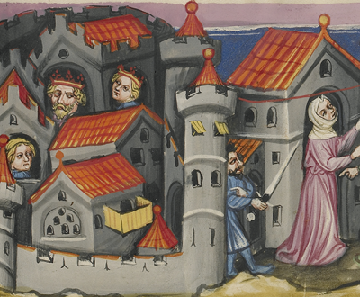 Rehab Hiding the Spies in Jericho, c. 1405. The J. Paul Getty Museum, Los Angeles. Digital image courtesy of the Getty's Open Content Program.