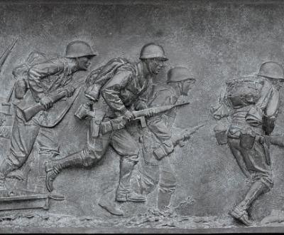 Bas relief, World War II Memorial, Library of Congress