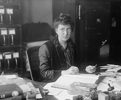 Ms. Clara Nelson at the Dead Letter Office, 1916. Photograph by Harris & Ewing. Library of Congress, Prints and Photographs Division.
