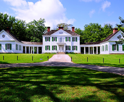 The rebuilt Blennerhassett mansion.