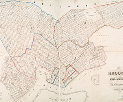 1846 Map of Brooklyn and Williamsburg
