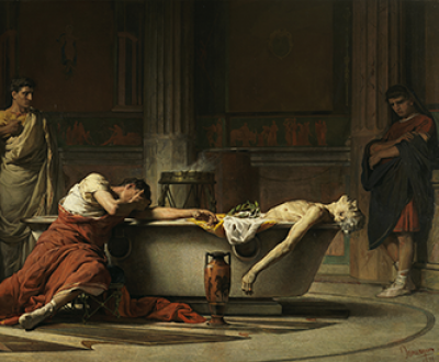 The Death of Seneca, by Manuel Domínguez Sánchez, 1871. Prado Museum.