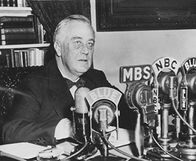 President Franklin D. Roosevelt in Washington, DC, January 11, 1944. National Archives and Record Administration, Franklin D. Roosevelt Library.
