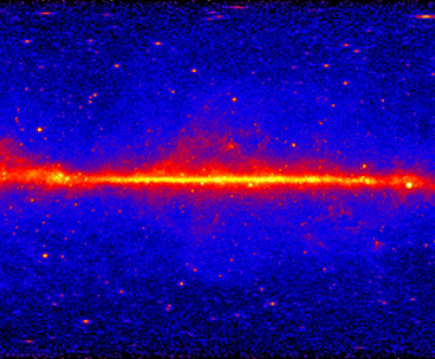 Fermi's Large Area Telescope's five-year view of the gamma-ray sky, 2013. NASA/DOE/Fermi LAT Collaboration.