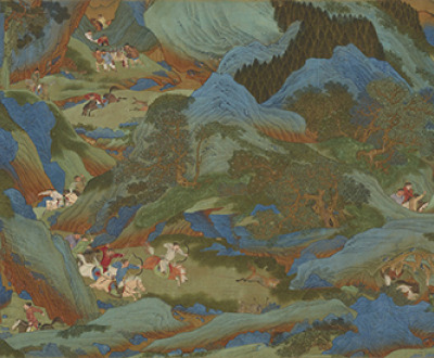 The Shanglin Park: Imperial Hunt, handscroll attributed to Qiu Ying, Ming dynasty, mid- to late sixteenth century. Smithsonian Institution, National Museum of Asian Art, Gift of Charles Lang Freer.