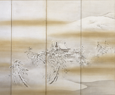 Byodo-in Temple in Winter, by Mori Kansai, c. 1860-70. The Walters Art Museum.