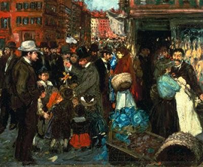 Street Scene (Hester Street), by George Benjamin Luks, 1905. Brooklyn Museum.