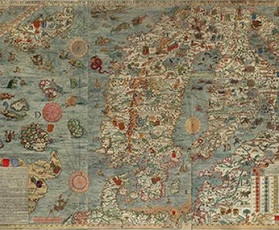 Carta Marina, by Olaus Magnus, 1539. Wikimedia Commons.