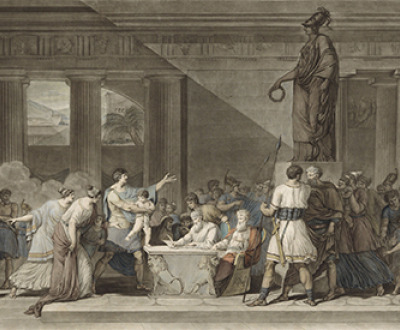 First Civil Act of the Republic of Athens (detail), by Pierre Michel Alix, after Victor Maximilien Potain, c. 1799–1804. Rijksmuseum.