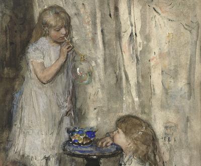 Two Girls Blowing Bubbles, byJacob Maris, c. 1880.