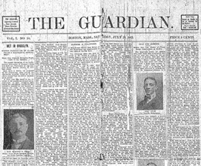Front page of the Guardian, July 26, 1902. Center for Research Libraries.