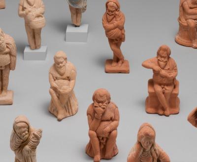 Small terracotta figurines of Ancient Greek actors